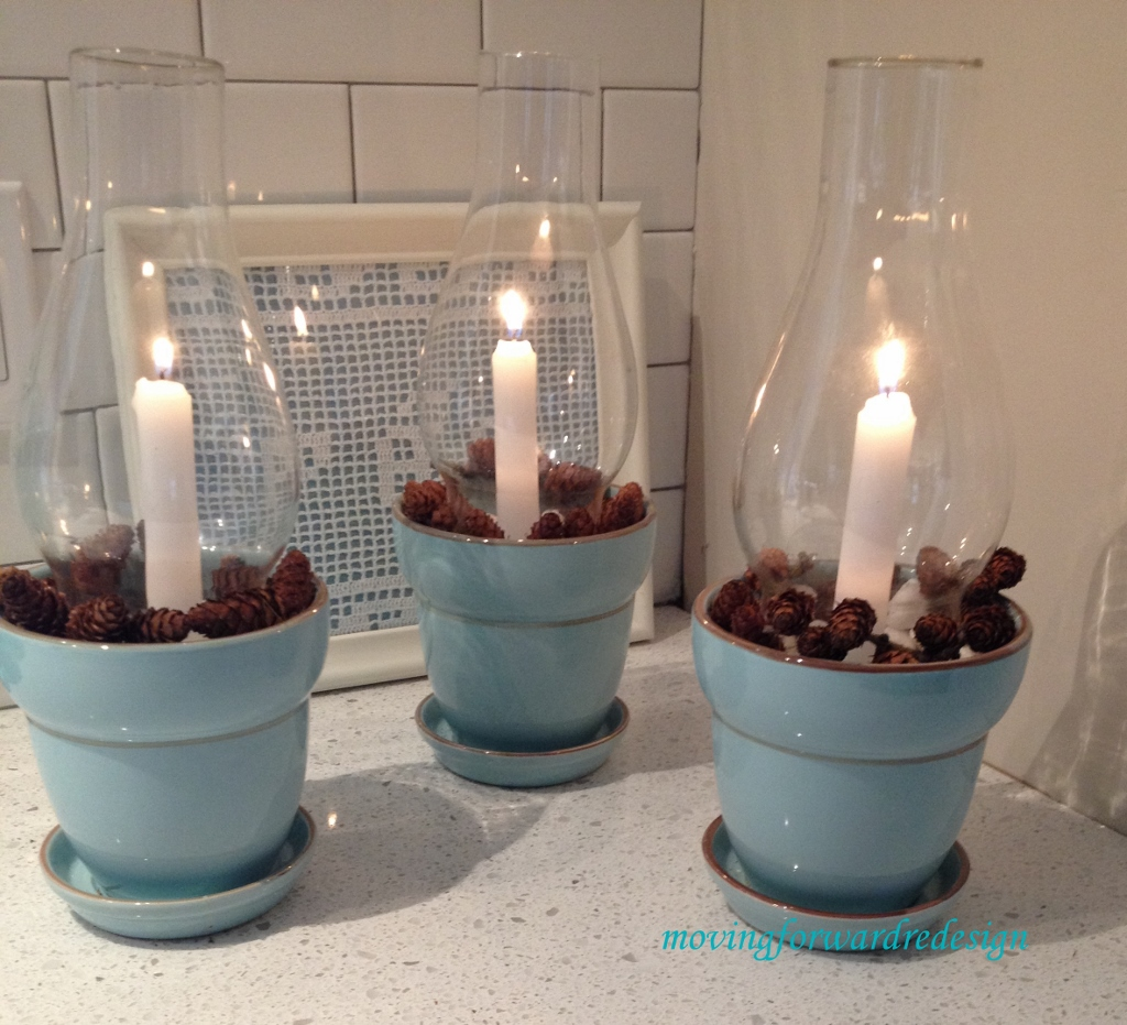 Glass chimney candle holders for How to make christmas candle holders