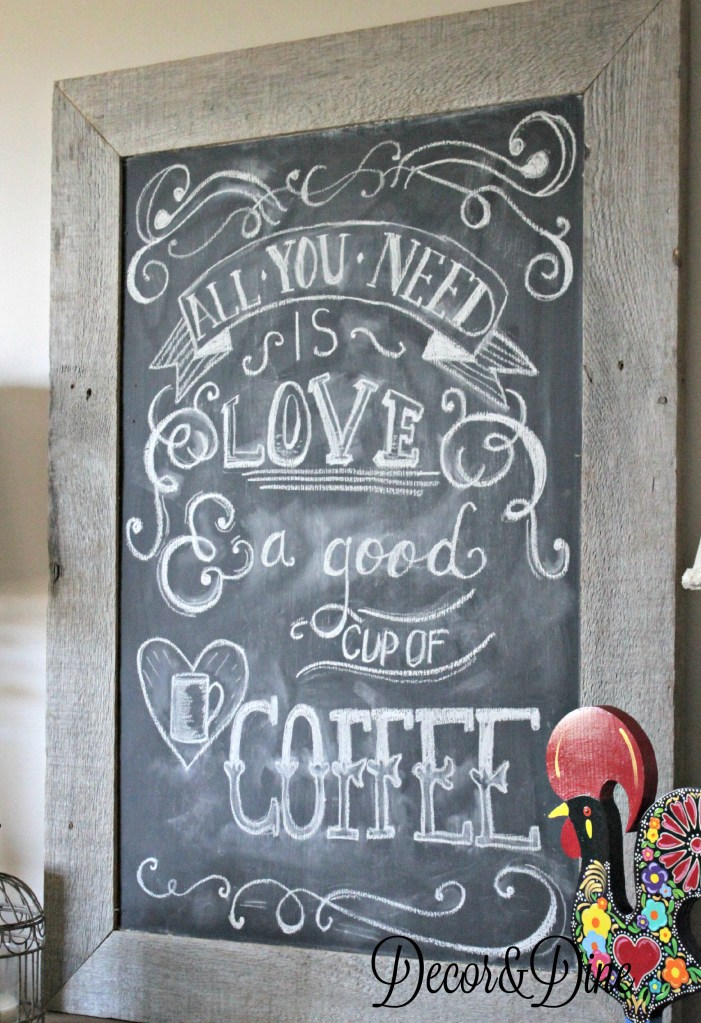 DIY barn wood blackboard
