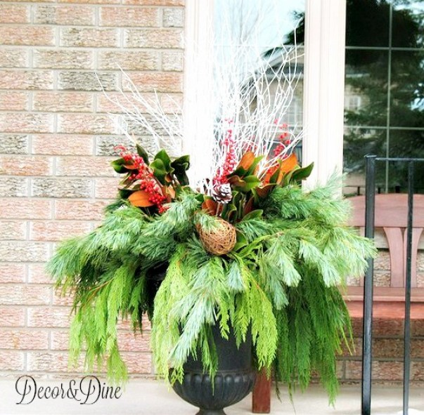 Outdoor Holiday Urn