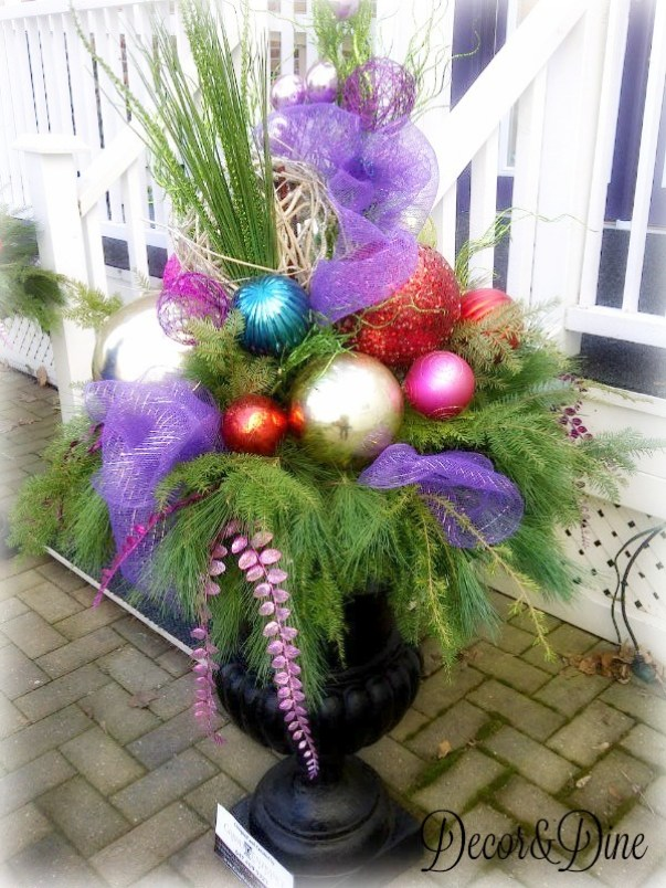 Holiday planter vy Grand Entrance Design