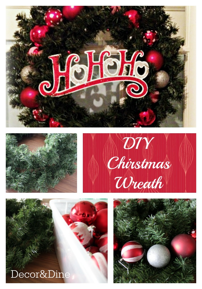 Diy Christmas wreath Pin