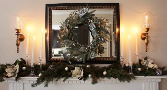 White and Silver Mantel
