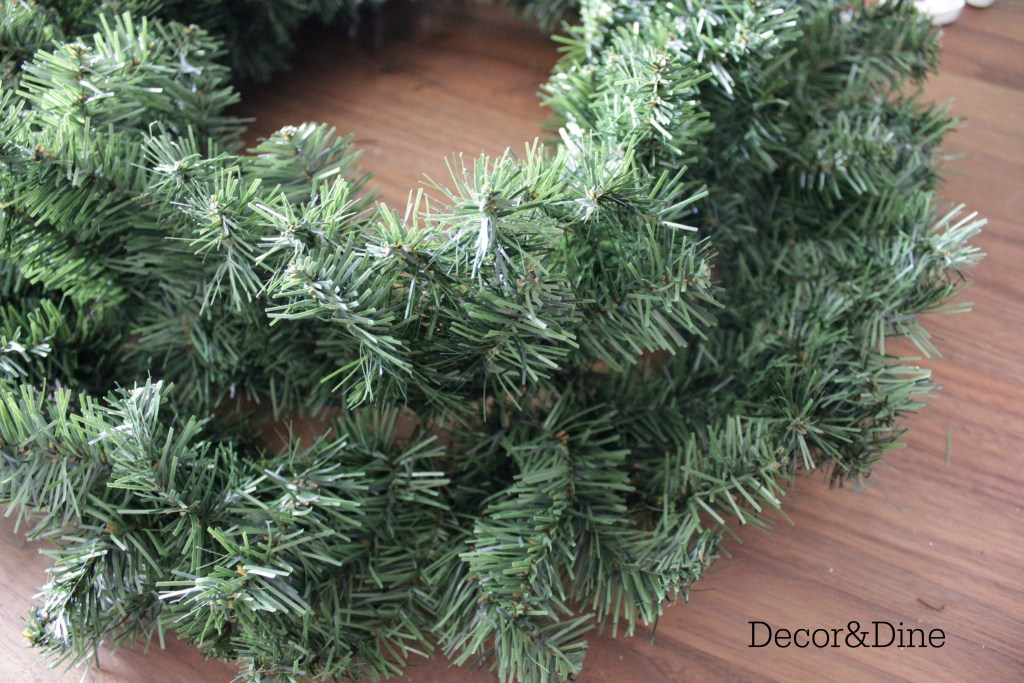 wreath, step 1
