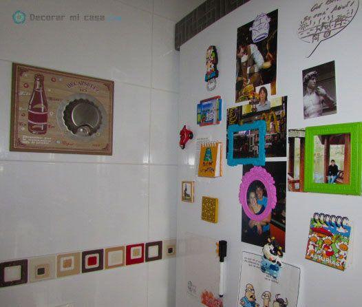 Diy cambiar el frigor fico con vinilo metalizado decorar mi casa - Cambiar cocina con vinilo ...