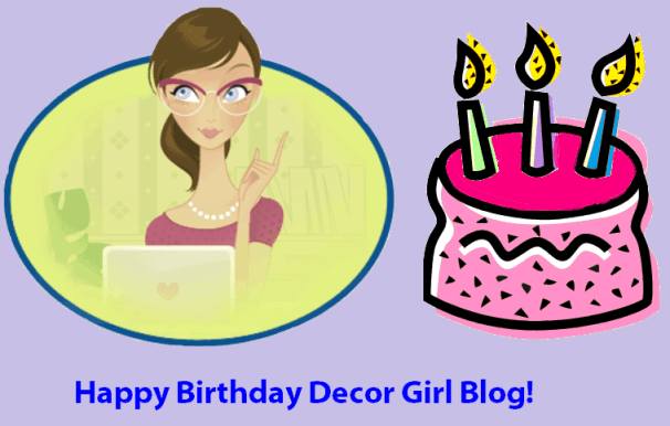 Happy Birthday Decor Girl