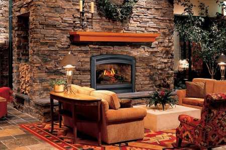 warm colors rustic interior design