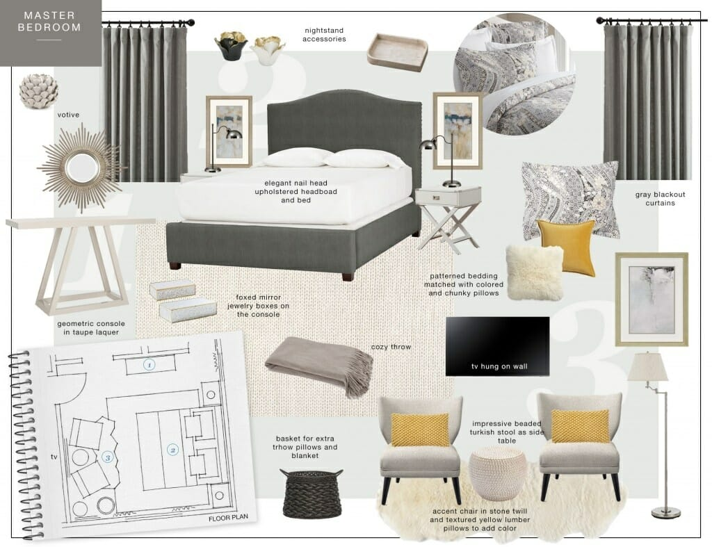7 Best Online Interior Design Services   Decorilla Eleni Decorilla Moodboard