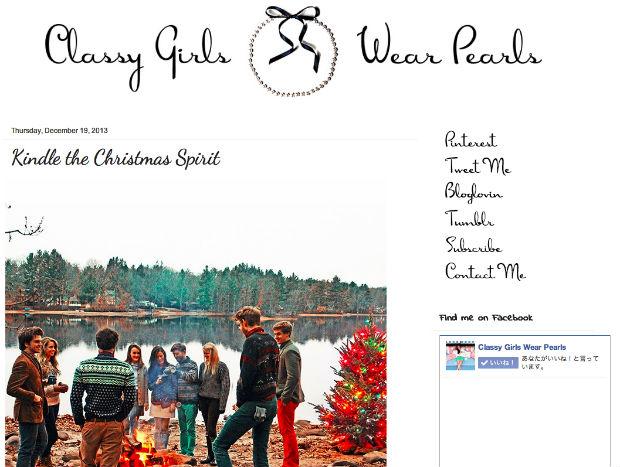 プレッピーファッションブログのClassy Girls Wear Pearls