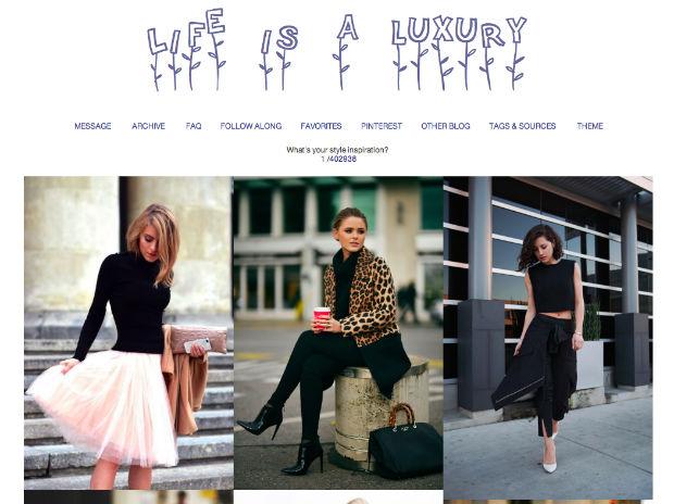tumblrファッションブログLIFE IS A LUXURY