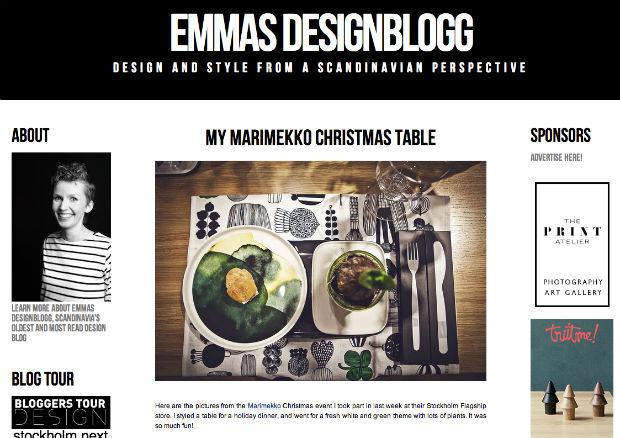 北欧インテリアブログ「EMMAS DESIGNBLOGG」
