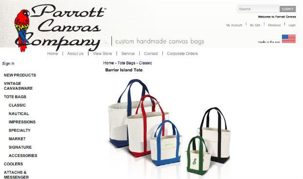 PARROTT CANVASのトートバッグ