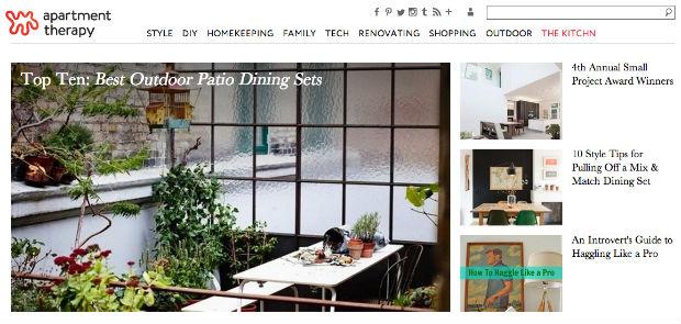 海外インテリア専門サイト「Apartment Therapy」