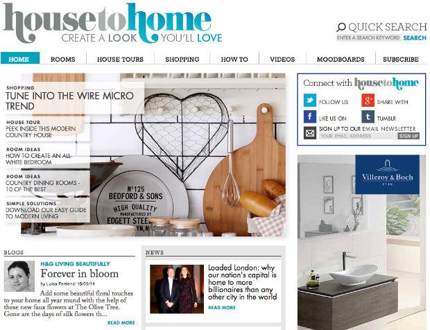 海外インテリア専門サイト「House To Home」