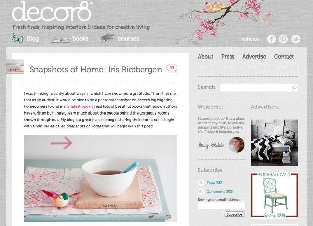 海外の女性向けブログ「decor8」