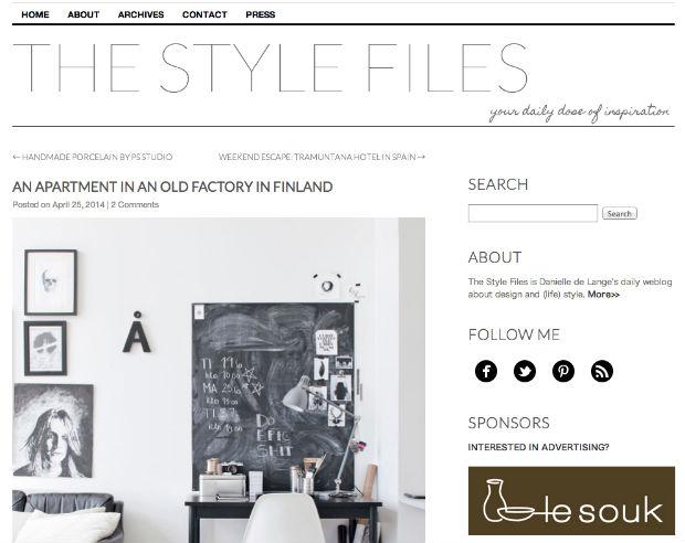 海外の女性向けブログ「THE STYLE FILES」