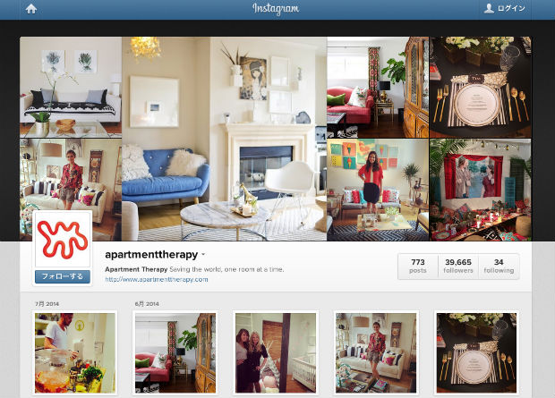 Apartment TherapyのInstagram