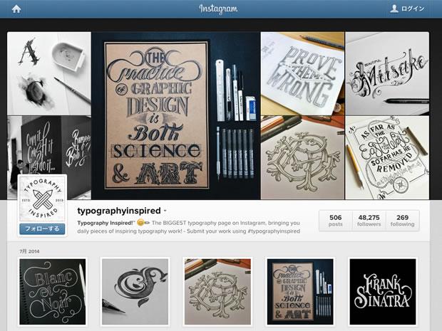 Typography Inspired!のInstagram