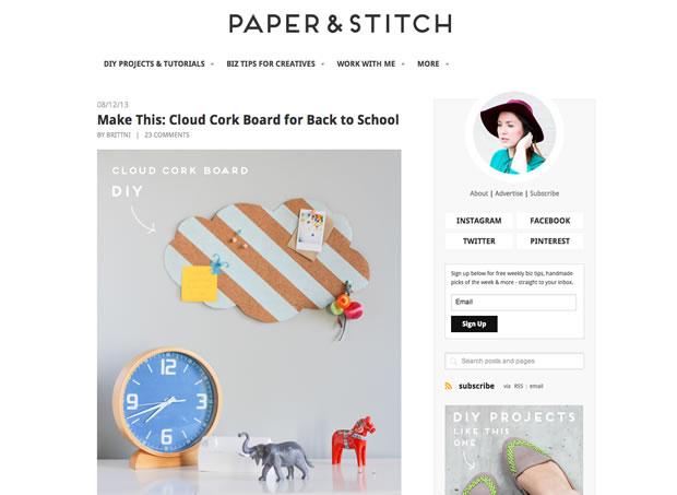 ブログPaper & Stitch.