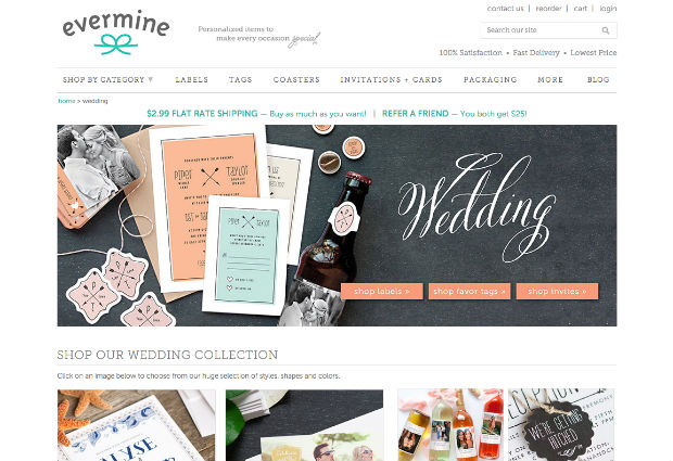 海外ウェディングサイト「Evermine」