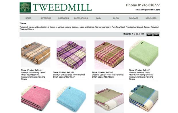 Tweedmill(ツイードミル)のブランケット