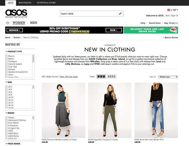 ファッション通販サイトASOS
