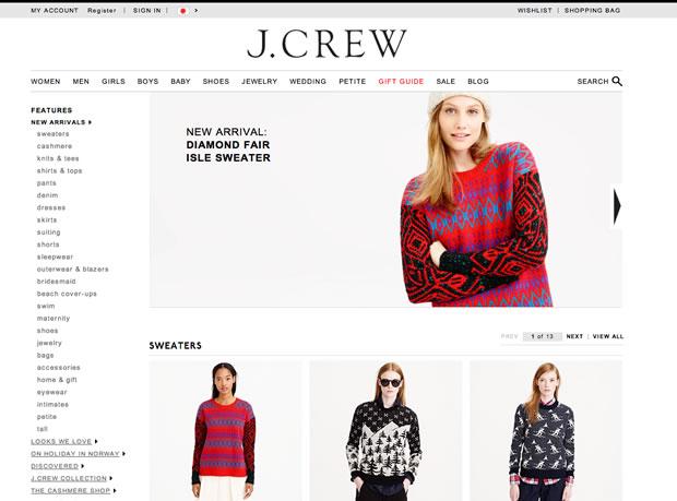ファッション通販サイトJ.Crew