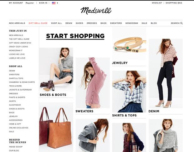 ファッション通販サイトMadewell