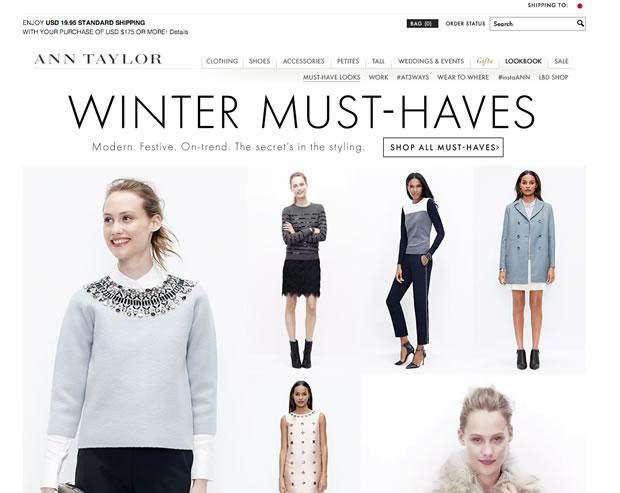 ファッション通販サイトANN TAYLOR