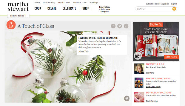 Martha Stewartのウェブサイト