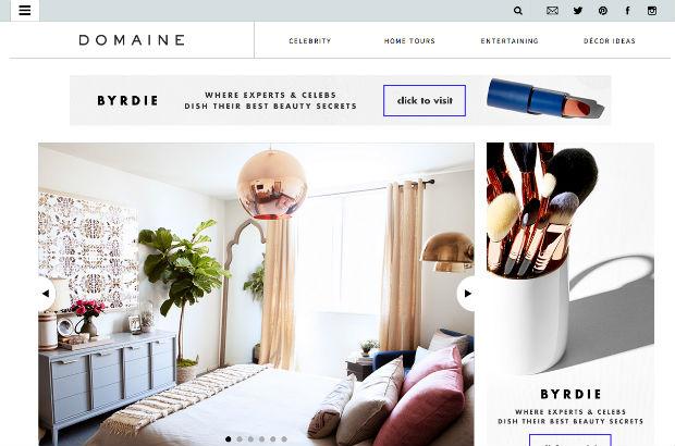 DomaineHomeのウェブサイト
