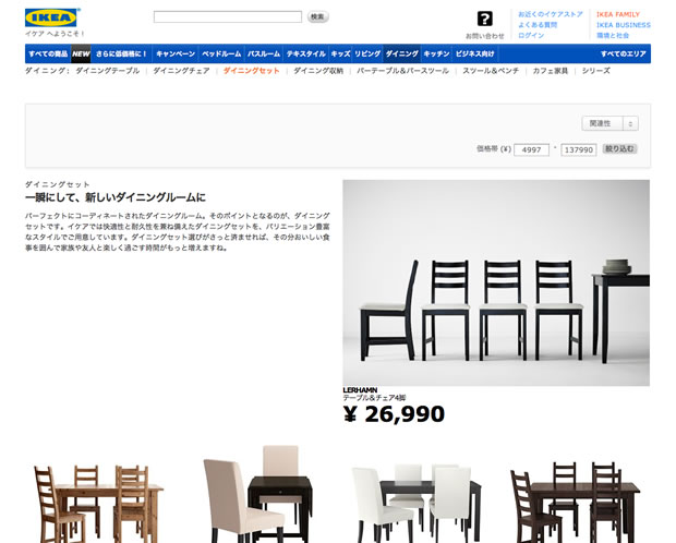IKEA(イケア)のダイニングテーブルセット