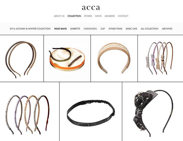 acca(アッカ)のへアアクセサリー
