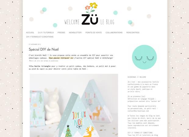 Zü LE BLOGの公式サイト