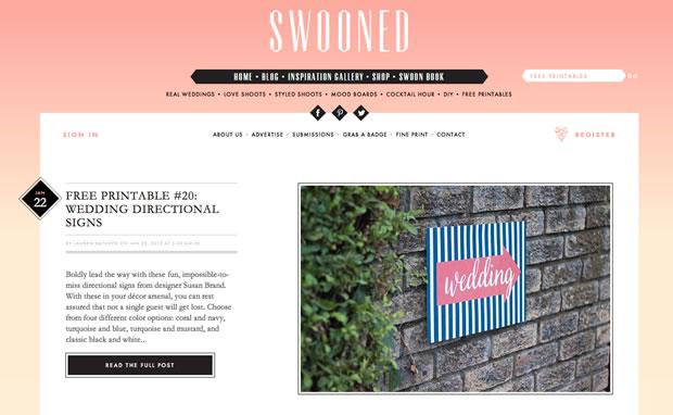 Swoonedの公式サイト
