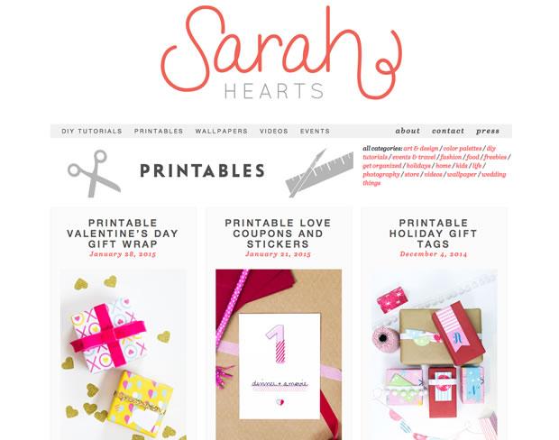 Sarah Heartsの公式サイト