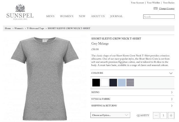 SUNSPEL(サンスペル)の無地Tシャツ