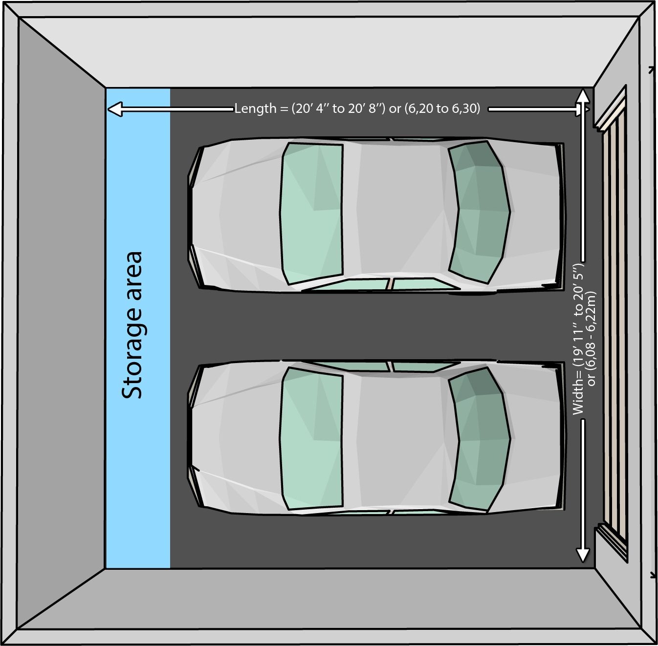 Lovable Dimensions An One Car A Two Car Two Car Size 2 Car Size Australia houzz-02 Two Car Garage Size