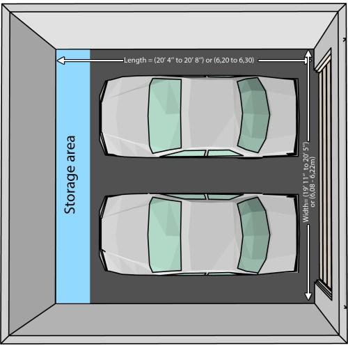 Medium Crop Of Two Car Garage Size