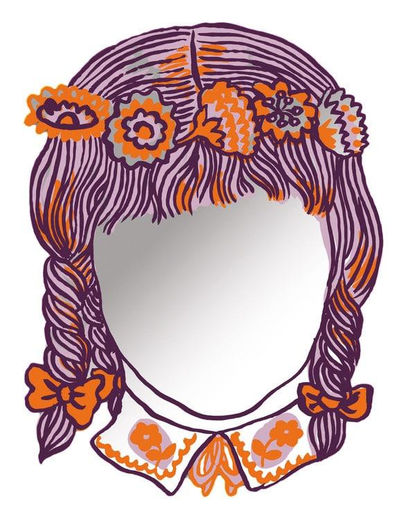 Miroirs autocollants narcisse x nathalie l t deco tendency - Miroir autocollant design ...