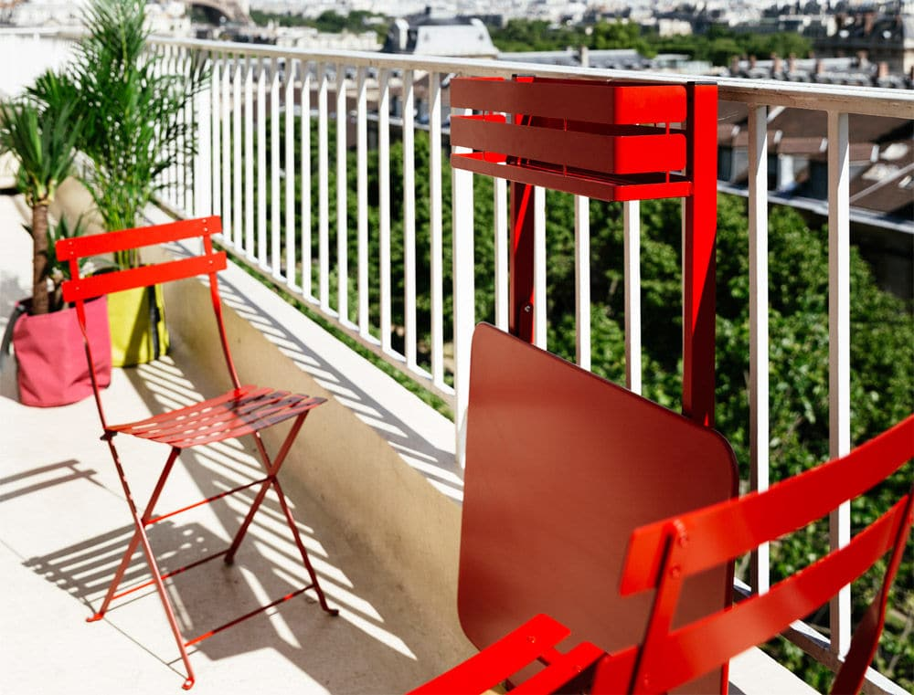 Fermob Pr Sente La Table Pliante De Balcon Bistro