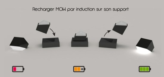 mow la premi re lampe recharge sans fil par induction. Black Bedroom Furniture Sets. Home Design Ideas