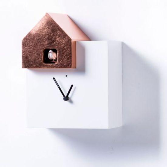 horloge coucou design ettore leaf blog deco tendency. Black Bedroom Furniture Sets. Home Design Ideas