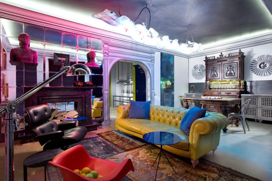Int rieur d co studio clectique by baraban design studio for Architecture eclectique
