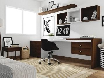 red corer son bureau avec des id es d co tr s simples. Black Bedroom Furniture Sets. Home Design Ideas