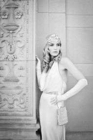 1920s Bride with Gloves