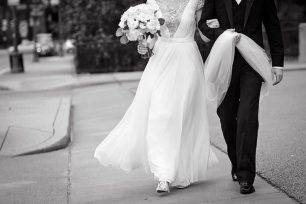 1920s Style Bride and Groom