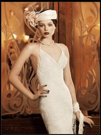 Art Deco Wedding Dress Yolan Cris Milán