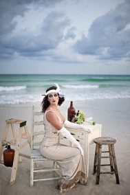 Vintage Beach Wedding || Roaring Twenties Beach