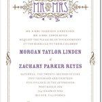 Art Nouveau Wedding Invitation Suite