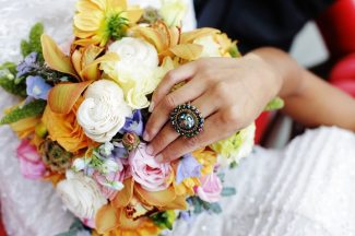 Art Nouveau Ring + Bouquet || Art Nouveau Wedding Inspiration